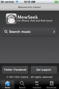 mewseek sur ipod touch