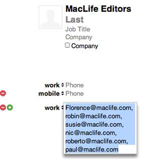 iOS Address Groups