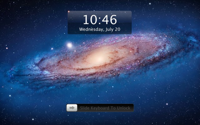 IOS UnlockScreen on OS X lion
