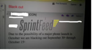 Sprint Blackout iPhone 5