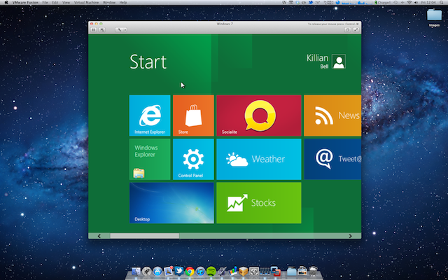 Windows 8 on Mac OS X