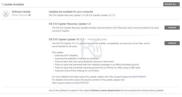 OSX El Capitan 10.11.2 Update